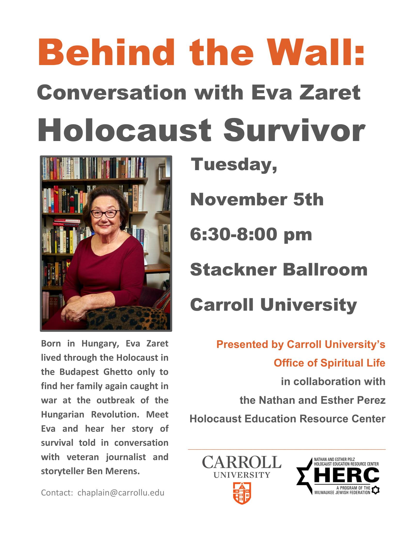 Holocaust Survivor Community Poster-1